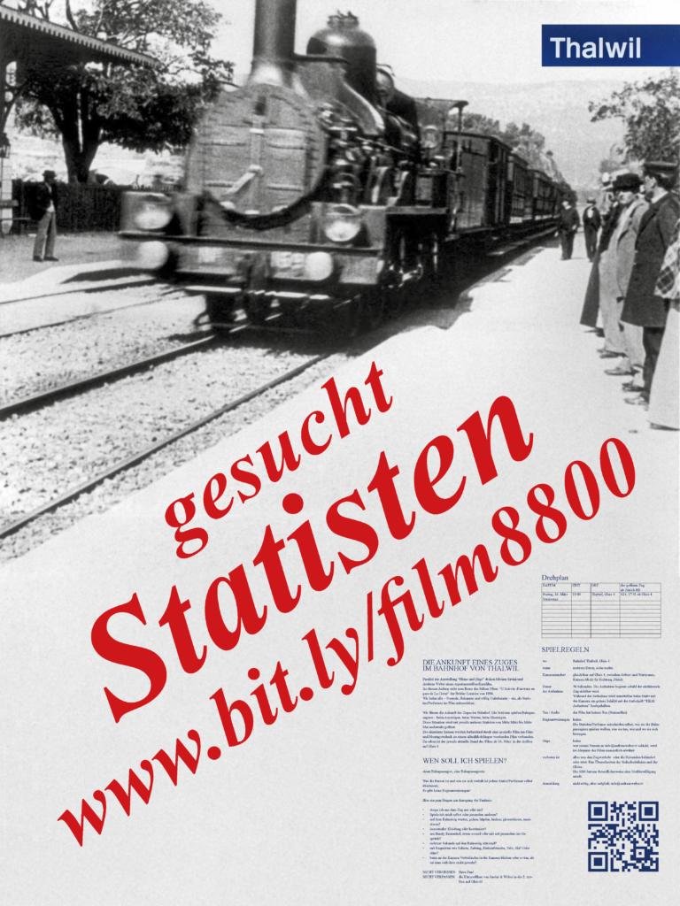 Plakat Statisten gesucht